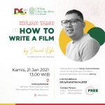 """Prodi Desain Komunikasi Visual Menyelenggarakan Kuliah Tamu dengan Tema """"How To Write a Film""""."""